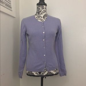 Light Purple Lavender Cashmere Button Cardigan